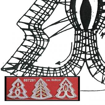Klöppelbrief Minibaum Siebdraht