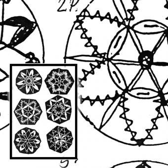 Pattern 6 stars, 5cm