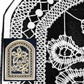 Klöppelbrief Fensterbild (Gr. 6)