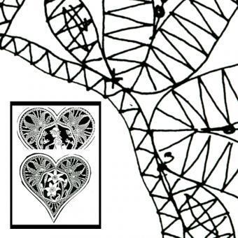 Klöppelbrief Herz (Gr. 3)