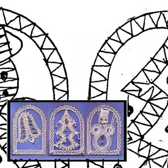 Klöppelbrief Torbogen (Gr. 1)