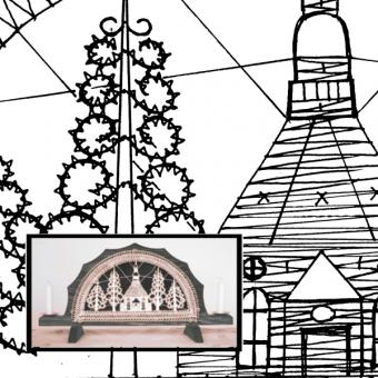 Pattern Church for Table Light Arch