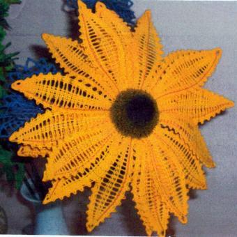 Klöppelbrief - Sonnenblume