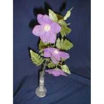 Klöppelbrief - Geklöppelte Blumen - Clematis