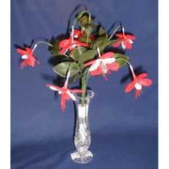 Klöppelbrief - Geklöppelte Blumen - Fuchsie