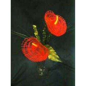 Klöppelbrief - Geklöppelte Blumen - Anthurie