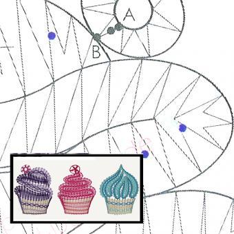 Klöppelbrief Cupcakes