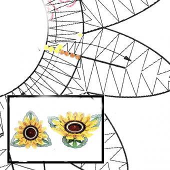 Klöppelbrief - Sonnenblume für Teelichthalter