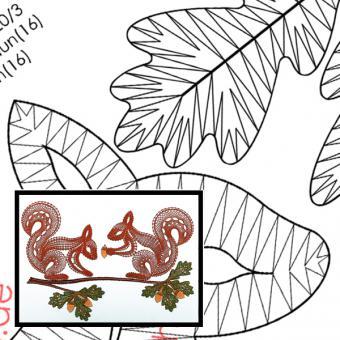 """Pattern Squirrel """"Max + Liesel"""""""