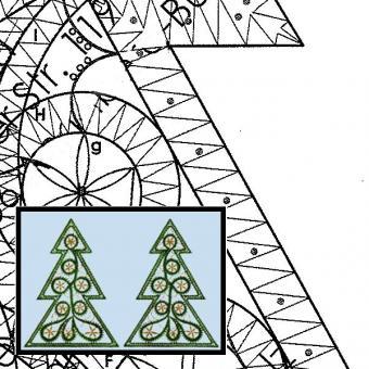 Klöppelbrief Großer Tannenbaum