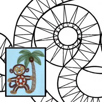 """Klöppelbrief Affe """"Wo ist meine Kokosnuss"""""""
