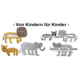 Pattern Lions & Elephant
