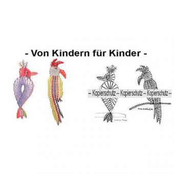 Klöppelbrief Vogel & Papagei