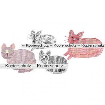 Klöppelbrief 2 Katzen
