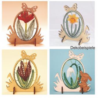 Klöppelbriefe 3D-Blumen für Ostereier