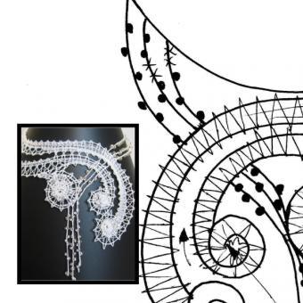 """Klöppelbrief """"Drei Spiralen"""""""