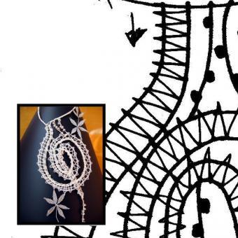 Klöppelbrief Frühlingsspirale