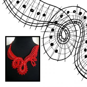 Pattern necklace wave