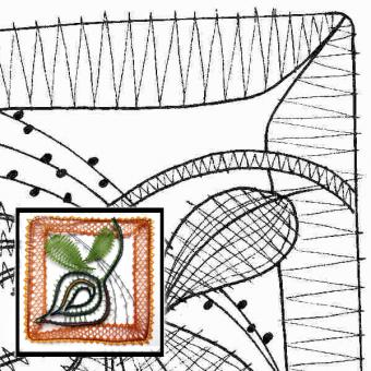 Klöppelbrief Blätter