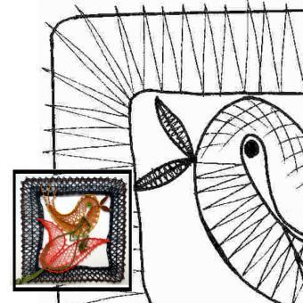 Klöppelbrief Vogel