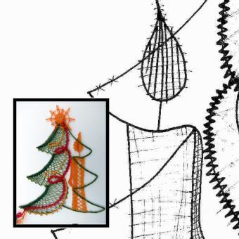 Pattern christmas tree