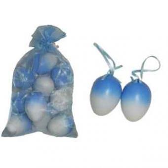 Pastikeier weiß/blau