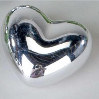 Deko-Herz aus Kunststein, versilbert