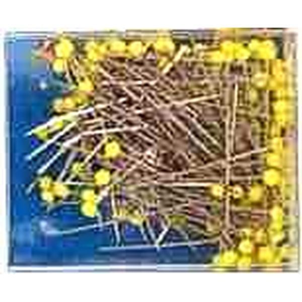 Glass-headed pins, extra long