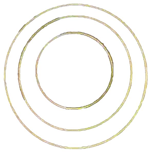 Metallring, vergoldet