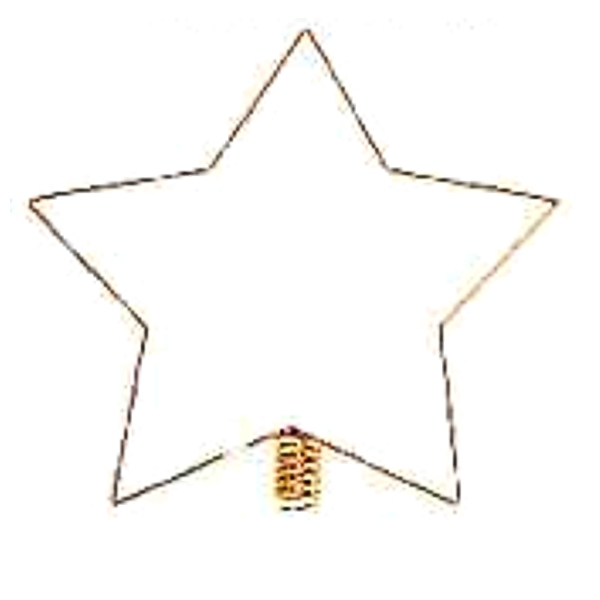 Christmas Tree Topper Star 5-pointed, gold-plated
