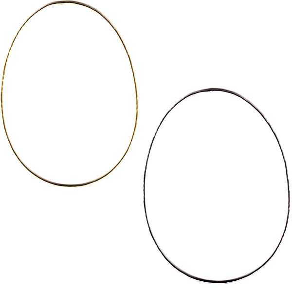 Metal Frame Egg, small