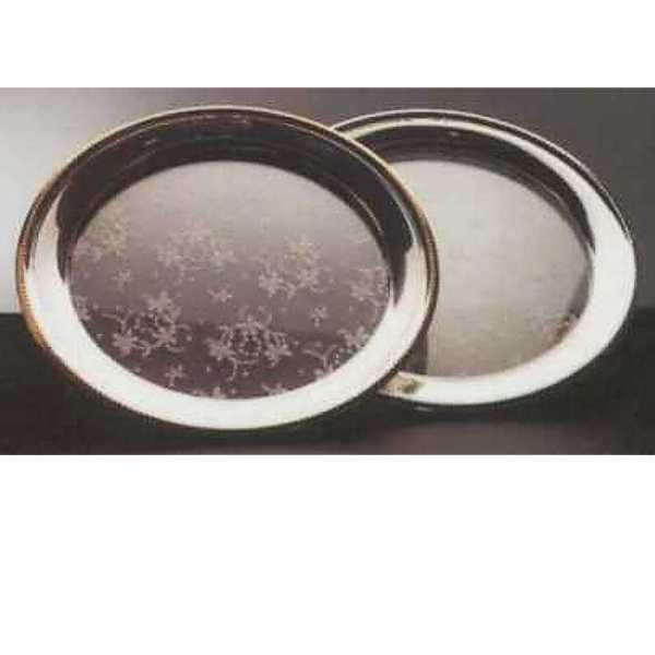 Glasteller mit Perlrand