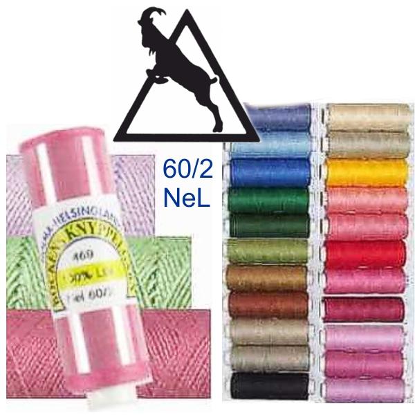 BOCKENS Leinengarn - farbig - NeL 60/2