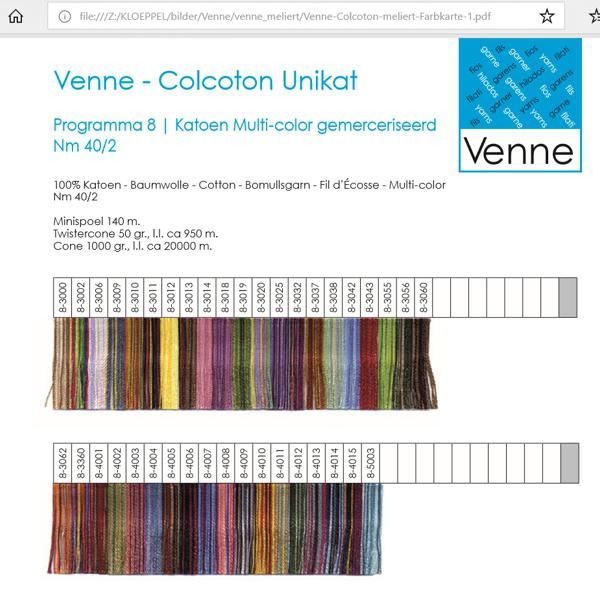 Venne Farbkarte multicolor