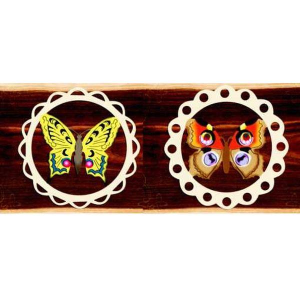 Holzhänger Schmetterling, farbig