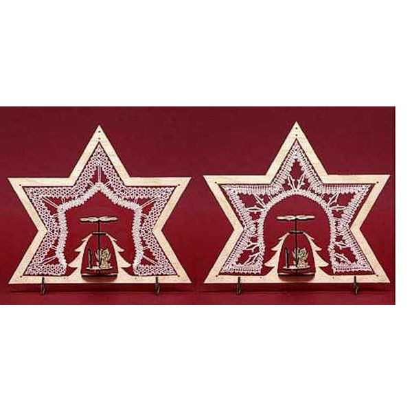 Wooden Frame Star with Forest Motive