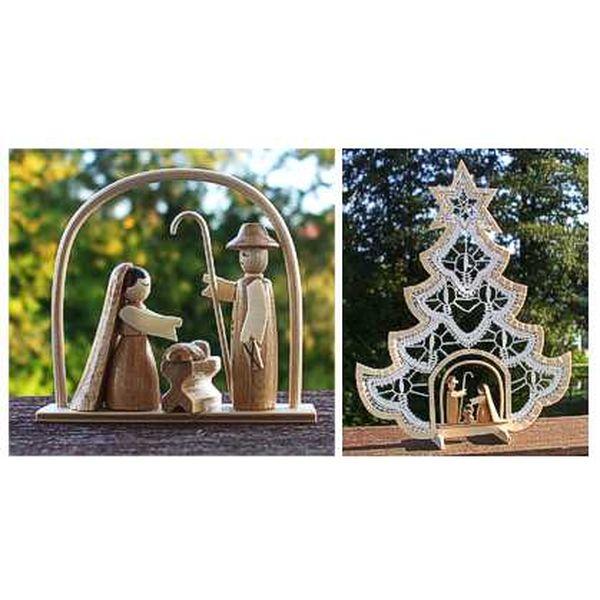 Holzminiatur Christi Geburt