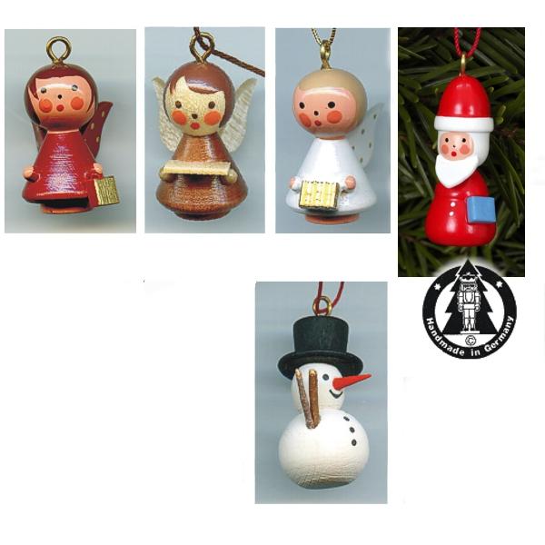 Holzminiaturen zum Hängen - Weihnachten
