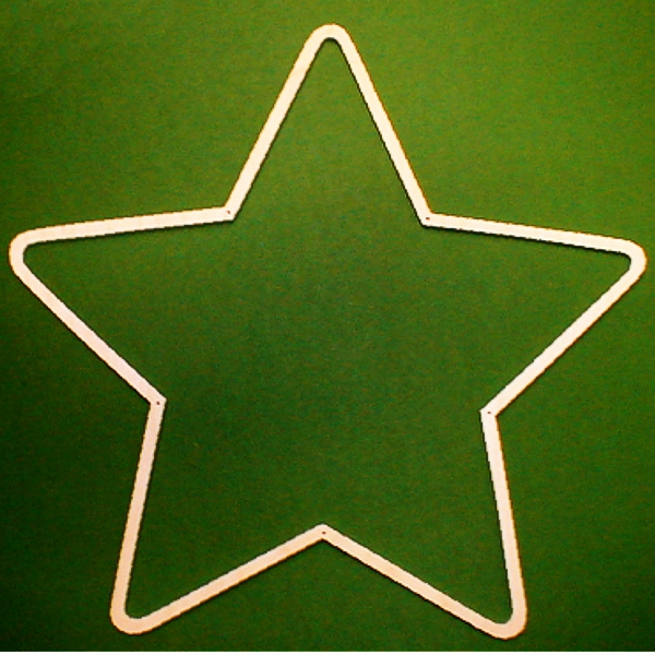 Wooden Frame Star, 5-pointed