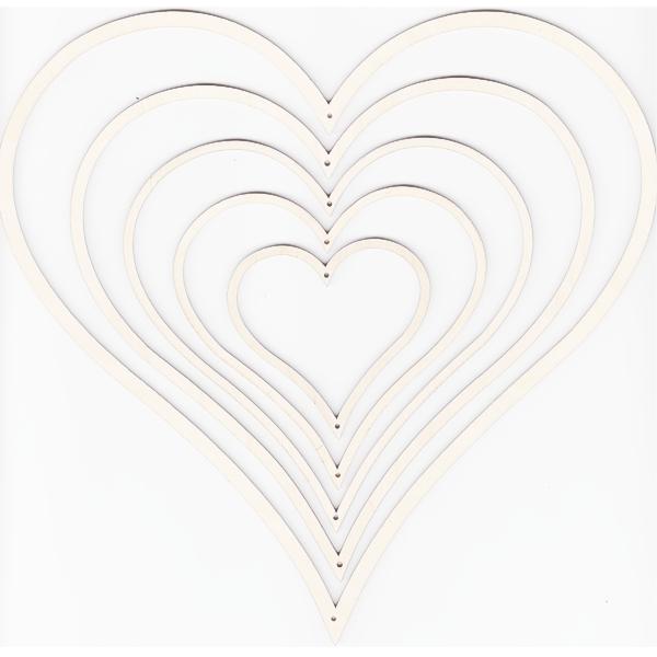 Holzrahmen Herz