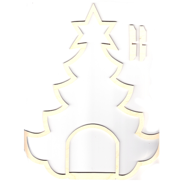 Wooden Frame Christmas Tree with Interior
