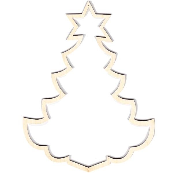 Holzrahmen Weihnachtsbaum