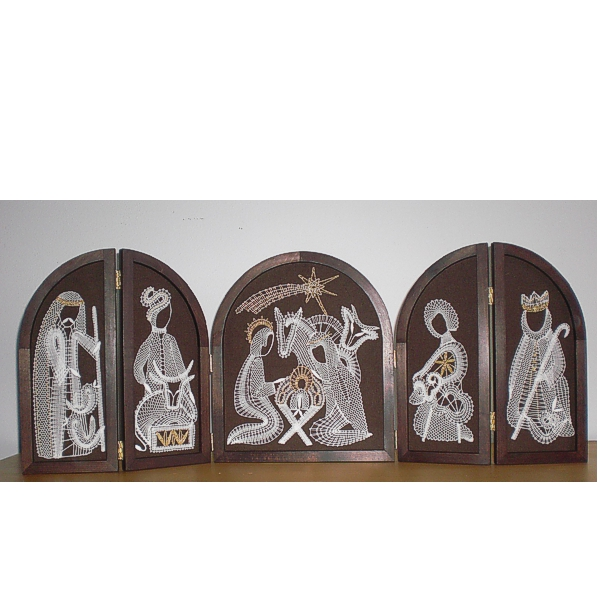 Wodden Frame Big Christmas Crib