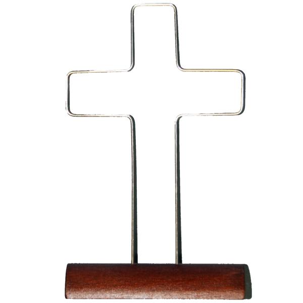 Rahmen mit Sockel - Kreuz