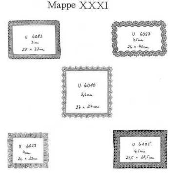 Ostmark Klöppelschätze Mappe 31
