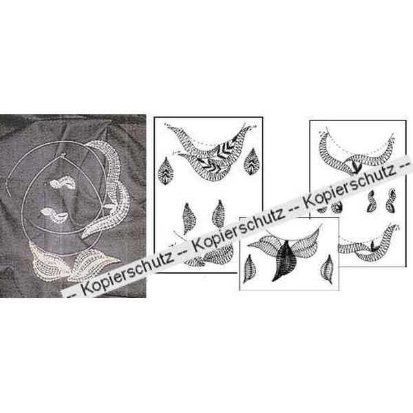 Klöppelbriefee 5 Collier & 5 Ohrringe