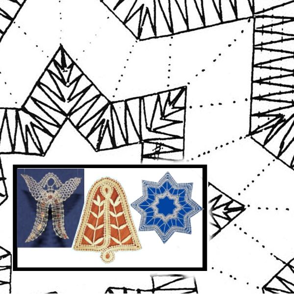 Klöppelbrief Weihnachtsmotive