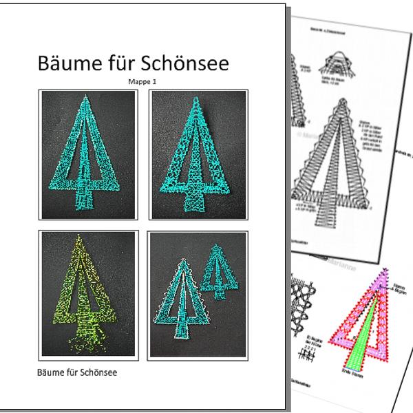 Klöppelbriefe - Bäume für Schönsee