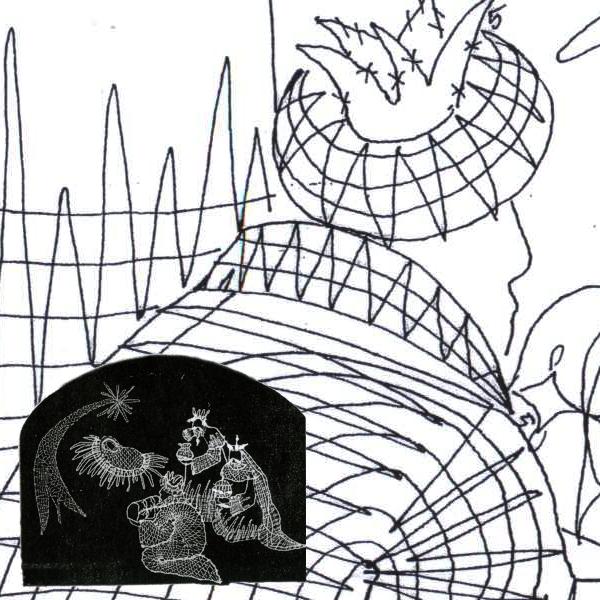 Klöppelbrief Heilige 3 Könige