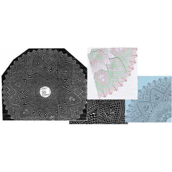 Klöppelbrief Decke rund  34,5 cm